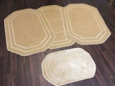 ROMANY GYPSY WASHABLES FULL SETS OF 4MATS/RUGS TOURER SIZE SIZE NON SLIP BEIGE